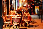 Latin Quarter Of Paris By Night