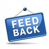 feedback icon or button for customer surveys and testimonials.