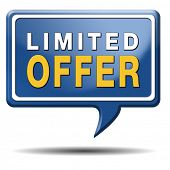 limited offer edition or stock webshop icon or web shop sign
