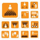 pic of performance evaluation  - Illustration of team building icon for business concept - JPG
