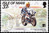 Motorcycle Race Stamp