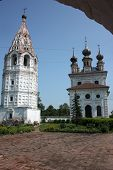 stock photo of archangel  - Michael the Archangel Cathedral and bell tower in the Monastery of Archangel Michael - JPG