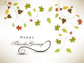 pic of happy thanksgiving  - Happy Thanksgiving Day background with colorful maple leaves on grey background - JPG