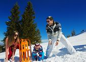 foto of snow-slide  - Winter season - JPG