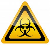 foto of chemical weapon  - Biohazard danger sign isolated on white background - JPG