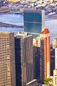 Aerial  View Over Upper Manhattan From Empire State Building Top New York