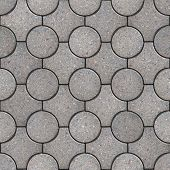 pic of paving  - Gray Round and Truncated Square Paving Slabs - JPG