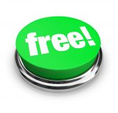 stock photo of slash  - A green button with the word Free on it - JPG