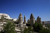 pic of chimney rock  - Fairy chimneys rock formations in Cappadocia - JPG