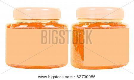 Orange Conditioner Jars