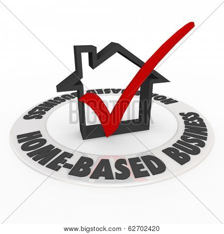 Home Based Business Words Check Mark Box Get Started