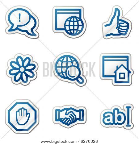 Internet web icons, blue contour series