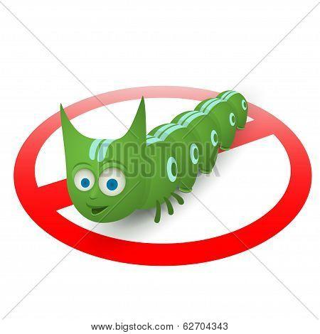 Green caterpillar pest runner