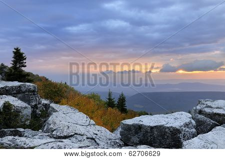 Twilight in West Virginia Mountains