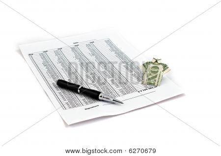 Documento de caneta