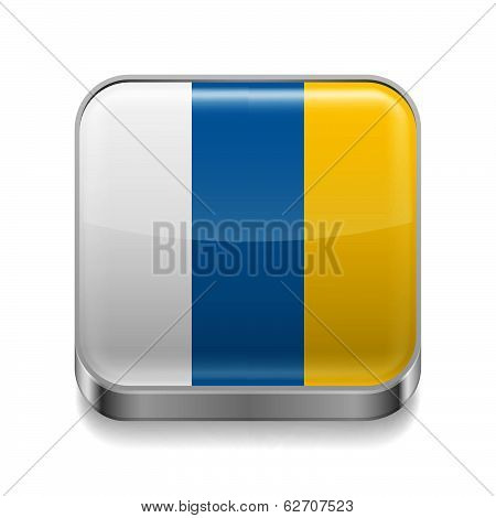 Metal  icon of Canary Islands