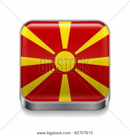 Metal  icon of Macedonia