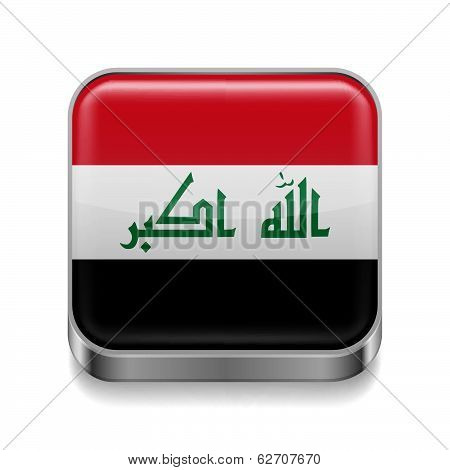 Metal  icon of Iraq