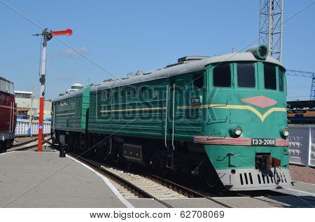 KIEV, UKRAINE -SEP 9, 2013: Railway Terminal of Kiev.Exibition of railway history as it shown at September 9, 2013 in Kiev, Ukraine