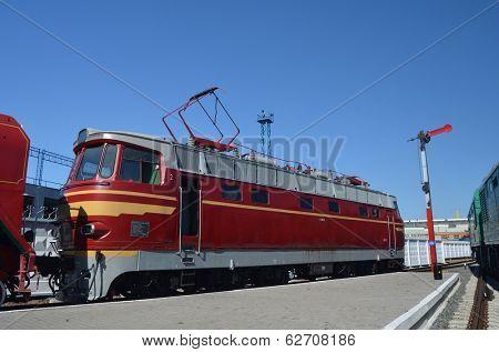 KIEV, UKRAINE -SEP 9, 2013: Railway Terminal of Kiev.Exibition of railway history as it shown at September 9, 2013 in Kiev, Ukraine