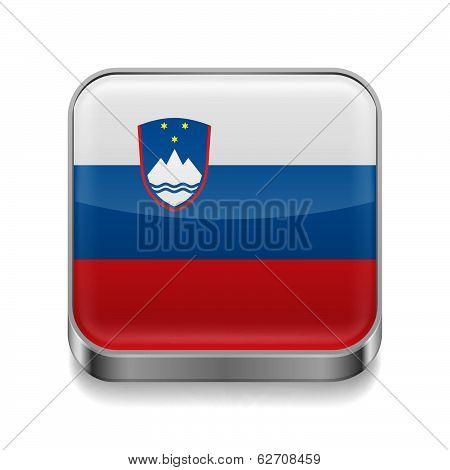 Metal  icon of Slovenia