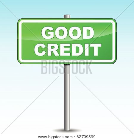 Vector Good Credit Signpost