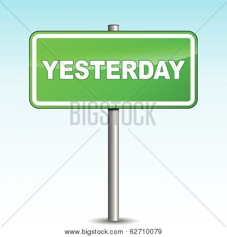 Vector Yesterday Signpost
