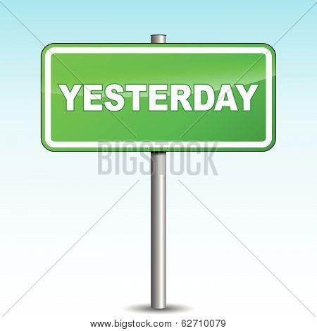Vector Yesterday Signpost