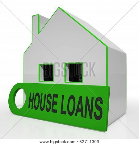 House Loans Home Means Mortgage Interest And Repay