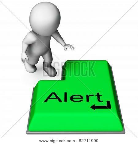 Alert Key Shows Online Notification Or Reminder