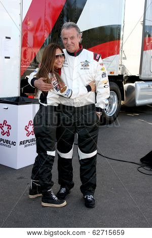 LOS ANGELES - APR 1:  Vanessa Marcel, Eric Braeden at the Toyota Grand Prix of Long Beach Pro/Celebrity Race Press Day at Long Beach Grand Prix Raceway on April 1, 2014 in Long Beach, CA