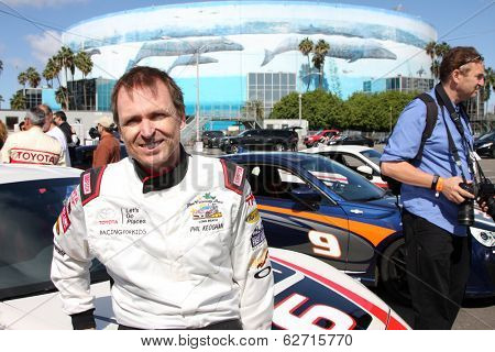 LOS ANGELES - APR 1:  Phil Keoghan at the Toyota Grand Prix of Long Beach Pro/Celebrity Race Press Day at Long Beach Grand Prix Raceway on April 1, 2014 in Long Beach, CA