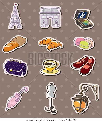 Paris Element Stickers