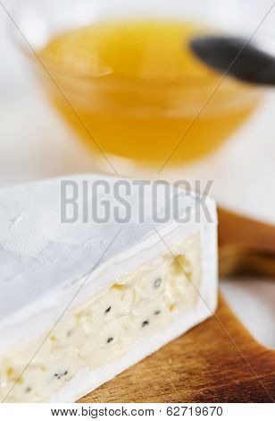 Cheese With Blue Mould And Honey
