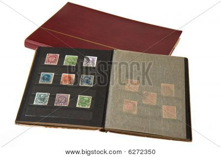Album mit Briefmarken