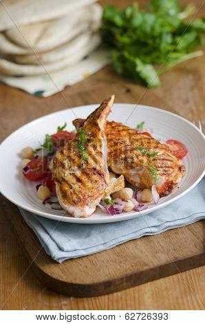 Harissa Chicken With Salad