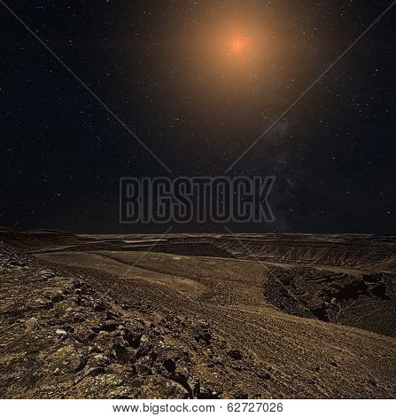 Rocky Planet In Space