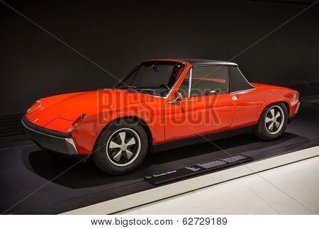 STUTTGART, GERMANY - CIRCA APRIL, 2014: Porsche Museum. PORSHE 914\8 (1969)