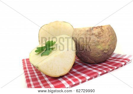 Yellow Turnip On A Napkin