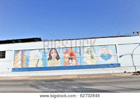 Graffiti and wall paintings in Havana