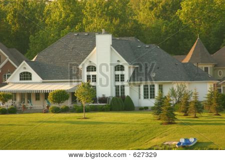 Large Home Backyard