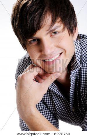 Happy Smiling Beautiful  Man