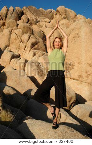 Senior Woman Tree Pose