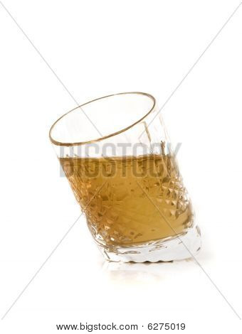 Crystal Jigger With Cognac