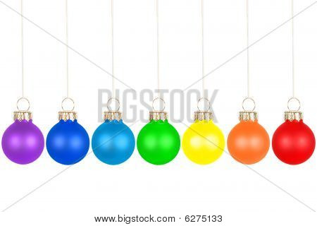 Christmas Tree Balls, Rainbow Colors