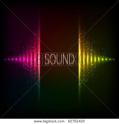 Rainbow colors vector equalizer