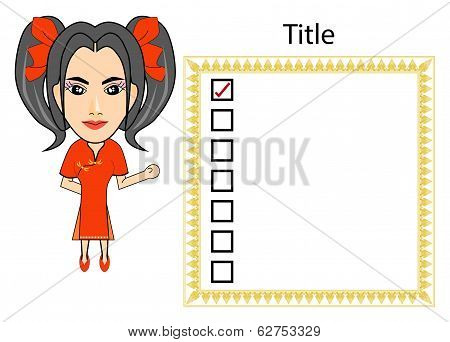 China Girl Planning Business