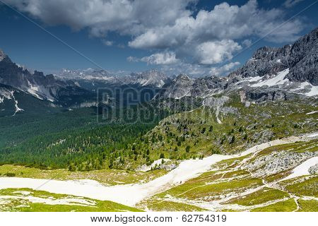Cortina di a'mpezzo skislopes and mountains