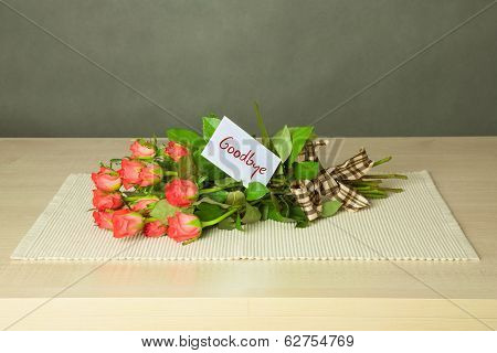 Bouquet With Goodbye Card