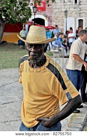 A Cuban man with a big cigar